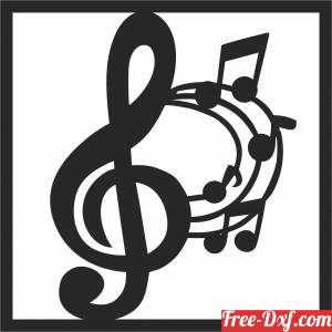 download Music notes Wall decor free ready for cut