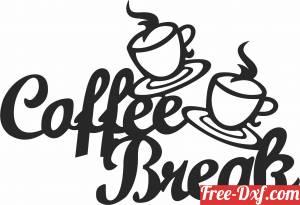 download Coffee Break wall decor free ready for cut