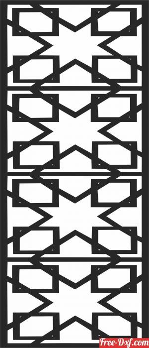 download Wall   screen door   Decorative screen free ready for cut