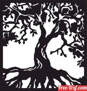 download Tree wall decor free ready for cut