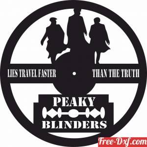 download Peaky Blinders art vinyl wall Clock free ready for cut