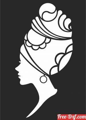download Canvas african women clipart free ready for cut