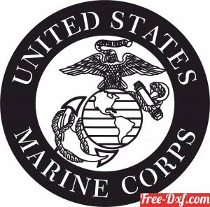 download United states marine corps logo free ready for cut
