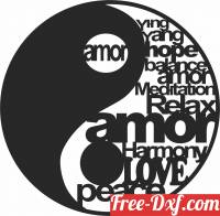 download yingyang life and death sign free ready for cut
