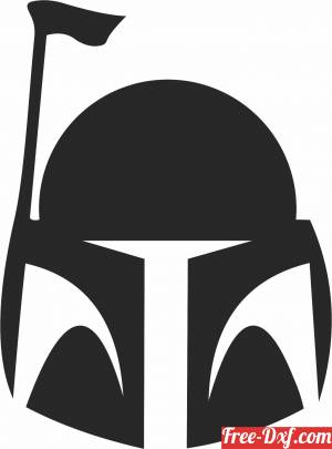 download boba fett Star Wars figure clipart free ready for cut