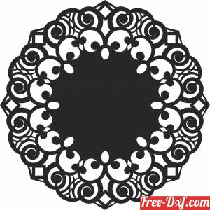 download Round Decorative pattern free ready for cut