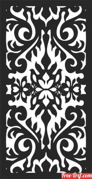 download Floral decorative panels for doors wall screen free ready for cut