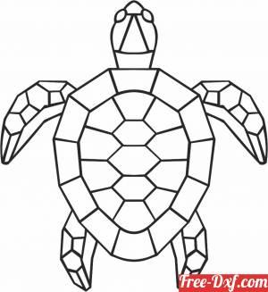 download Geometric Polygon tortoise free ready for cut