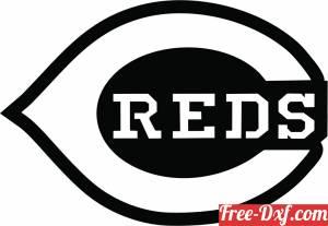 download Cincinnati reds Logo MLB Baseball free ready for cut