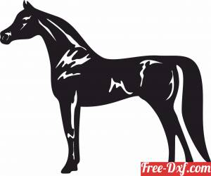 download arabic Horse clipart free ready for cut