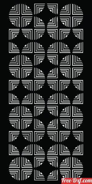 download geometric decorative pattern panel wall screen free ready for cut