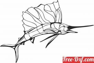 download Silhouette marlin wall decor fish clipart free ready for cut