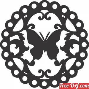 download Butterfly wall Sign Design free ready for cut