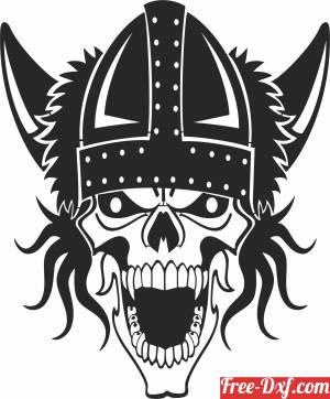 download Viking Skull cliparts free ready for cut