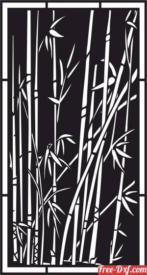 download bamboo tree decorative wall screen door partition panel pattern free ready for cut