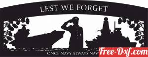 download Lest We Forget Navy military sign flags free ready for cut