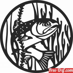 download Fish scene clipart free ready for cut