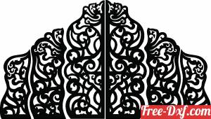 download Decorative panels floral gate pattern free ready for cut