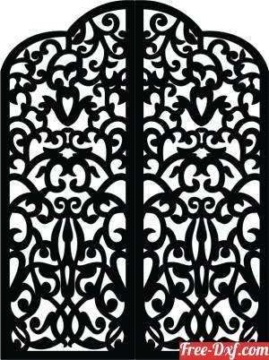 download decorative panels for doors gates wall screen pattern free ready for cut
