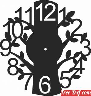 download tree branche Wall Clock free ready for cut