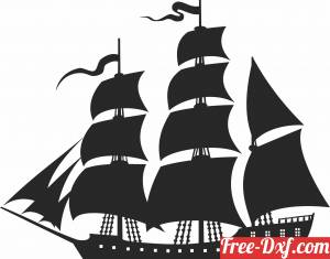 download Sailing Boat cliparts free ready for cut
