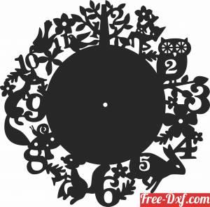 download owl tree birds Wall Clock Vinyl free ready for cut