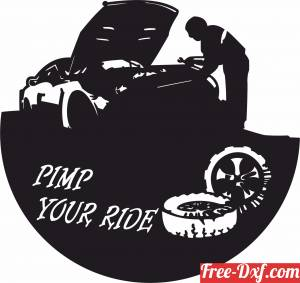 download Pimp Your Ride Vinyl Clock free ready for cut