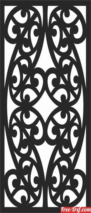 download SCREEN   Decorative   DOOR  Wall DOOR   decorative  Pattern free ready for cut