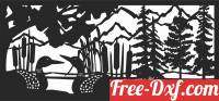 download ducks forest scene wall decor free ready for cut