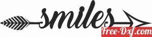 download Smiles Smiles arrow sign free ready for cut