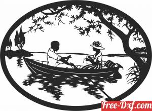 download Couple on boat scene free ready for cut