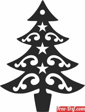 download Christmas decor tree free ready for cut