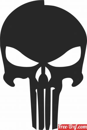 download Punisher Skull cliparts free ready for cut