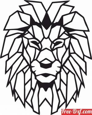 download Lion Polygon Art Wall geometric free ready for cut