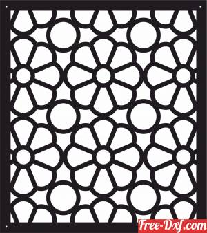download decorative panel floral screen pattern art free ready for cut