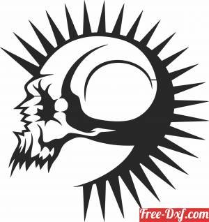 download scary Skull arts free ready for cut