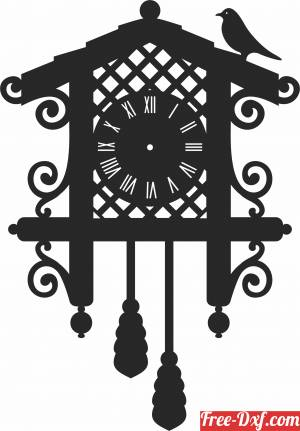 download Wall Clock Vinyl free ready for cut
