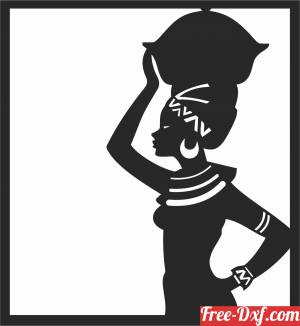 download African women design african art free ready for cut