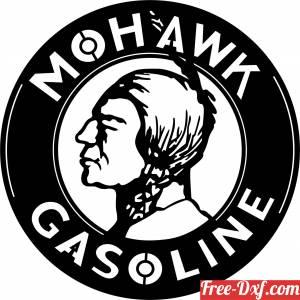 download Garage Art Mohawk Gasoline Sign free ready for cut
