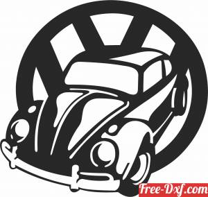 download Volkswagen Beetle free ready for cut