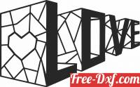 download 3D Love Wall Decor free ready for cut