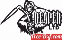 download Grim Reaper skull vector free ready for cut