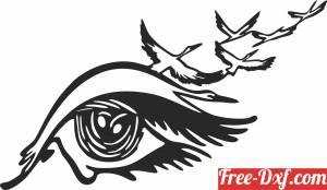 download eyes birds tears art free ready for cut