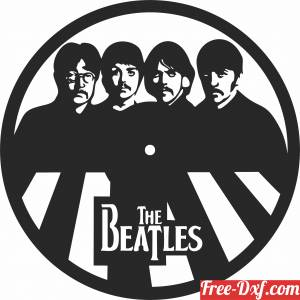 download the beatles Wall Clock free ready for cut