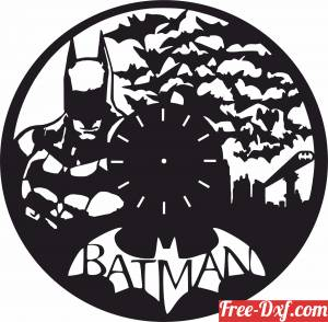 download Batman vinyl clock free ready for cut