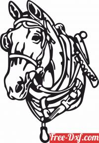 download Horse face clipart free ready for cut