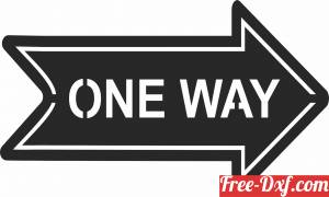 download one way wall plaque sign direction free ready for cut