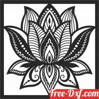 download flower panel decor pattern free ready for cut