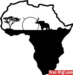 download afrika african elephant safari scene wild free ready for cut