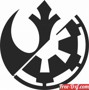 download Star Wars Silhouette figure free ready for cut